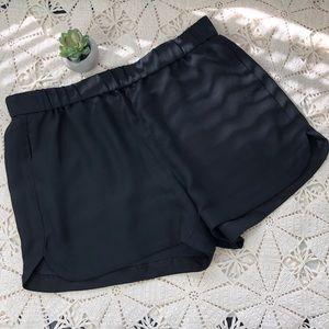 Madewell Black lightweight shorts